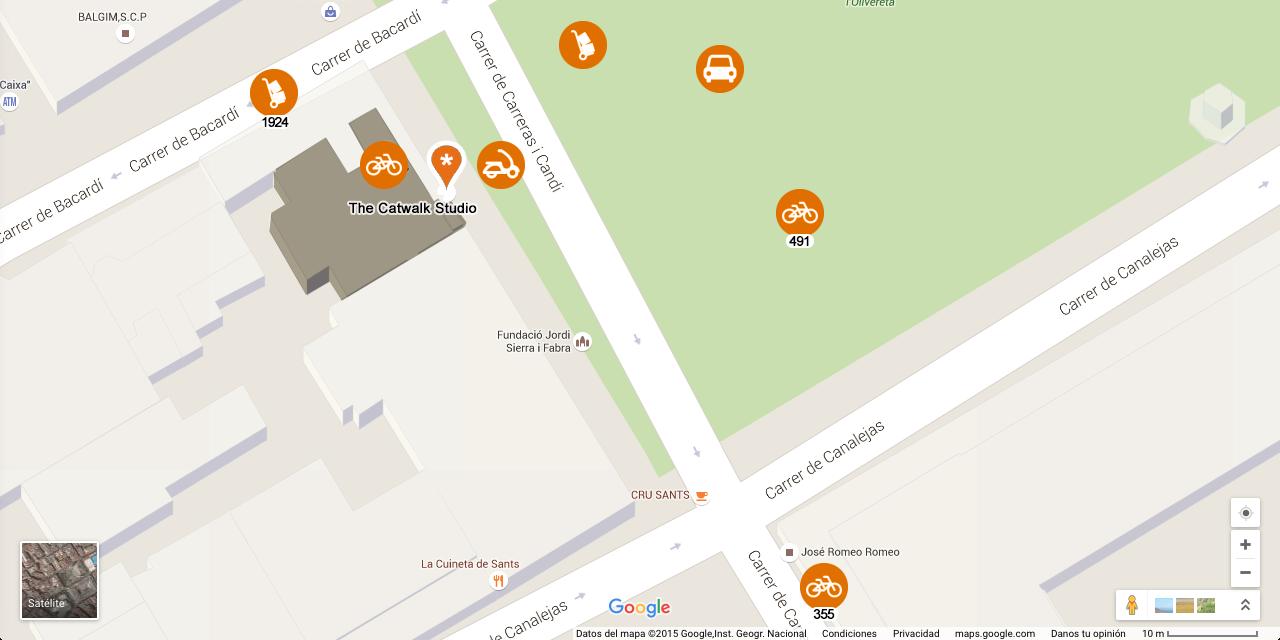 Mapa ampliado alrededores estudio