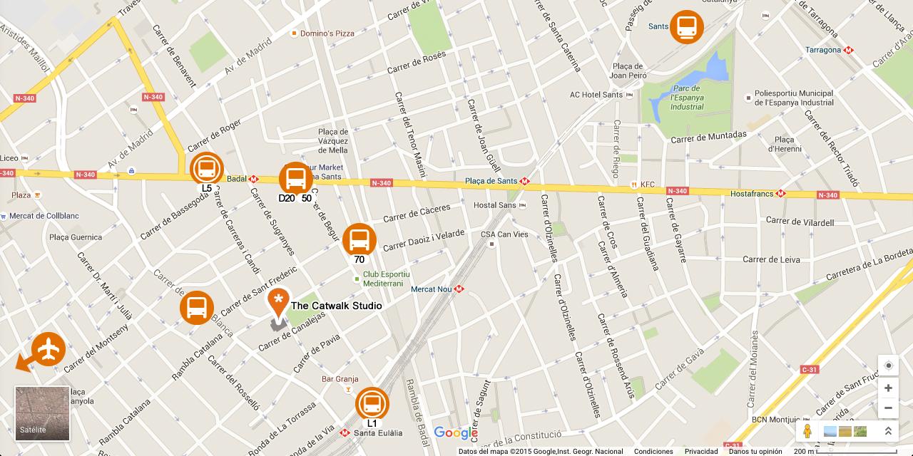 Mapa general alrededores estudio